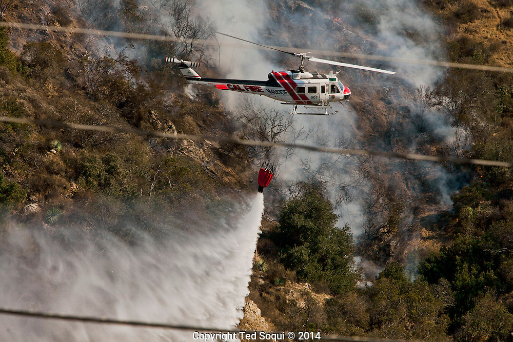 A 3000 acre fire burned, named the Colby Fire, in the hills above Glendora, CA. <br /> Southern California is experiencing an unseasonable heat wave along with high winds. The area is also experiencing extreme drought conditions.<br /> The fire was fought with mostly water dropping aircraft and is now mostly extinguished.