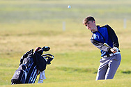Joshua McCabe (Roganstown) on the 1st during Round 2 of the Ulster Boys Championship at Donegal Golf Club, Murvagh, Donegal, Co Donegal on Thursday 25th April 2019.<br /> Picture:  Thos Caffrey / www.golffile.ie