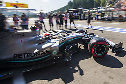 August 31, 2019, Spa, Belgium: Mercedes' British driver Lewis Hamilton pictured during the free trial sessions ahead of the Spa-Francorchamps Formula One Grand Prix of Belgium race, in Spa-Francorchamps, Saturday 31 August 2019. (Credit Image: © Nicolas Lambert/Belga via ZUMA Press)