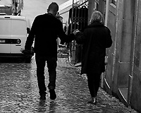 Morning Street Photography in Sintra. Image taken with a Fuji X-T3 camera and 35 mm f/1.4 lens.