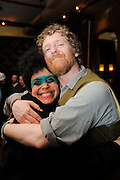 Glen Hansard and Kimya Dawson photographed at the afterparty for The Music of R.E.M. at Carnegie Hall held at City Winery, NYC. Glen and Kimya performed both Carnegie Hall and City Winery that evening.