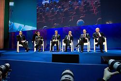 """Roma 21/01/2009 - IV Conferenza nazionale sul Digitale Terrestre dal titolo """"Niente è come prima"""". NELLA FOTO: Il palco."""