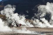 Tourists at Tatio Geysers, Antofagasta Regain, Atacama Desert, Chile, South America