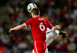 John Terry of England vs Milivoje Novakovic of Slovenia during the 2010 FIFA World Cup South Africa Group C Third Round match between Slovenia and England on June 23, 2010 at Nelson Mandela Bay Stadium, Port Elizabeth, South Africa.  (Photo by Vid Ponikvar / Sportida)