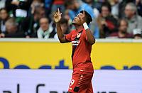 1:2 Jubel Leon Bailey (Leverkusen)<br /> Moenchengladbach, 21.10.2017, Fussball Bundesliga, Borussia Moenchengladbach - Bayer 04 Leverkusen 1:5<br /> Norway only