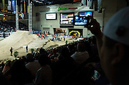 Kevin Rookstool and fans during Step Up Qualifier at Endurocross Las Vegas, NV.