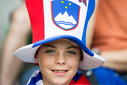 Fan of Slovenia during the EURO 2016 Qualifier Group E match between Slovenia and England at SRC Stozice on June 14, 2015 in Ljubljana, Slovenia. Photo by Vid Ponikvar / Sportida