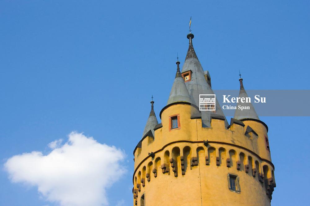 Eschenheimer Turm, Frankfurt's only remaining watchtower, Germany