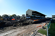 General view inside Home Park Stadium of the redevelopment work of the the Mayflower Stand before the EFL Sky Bet League 1 match between Plymouth Argyle and Burton Albion at Home Park, Plymouth, England on 20 October 2018.
