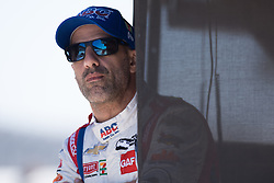 April 30, 2018 - Indianapolis, IN, U.S. - INDIANAPOLIS, IN - APRIL 30: Tony Kanaan looking on from his pit box during an Open Test on April 30, 2018, at the Indianapolis Motor Speedway in Indianapolis, IN. (Photo by James Black/Icon Sportswire) (Credit Image: © James Black/Icon SMI via ZUMA Press)