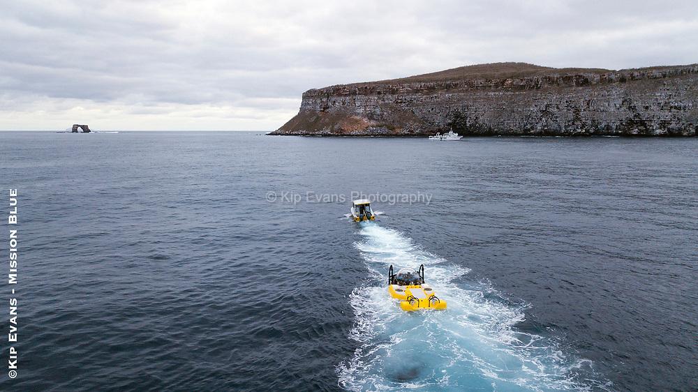 DeepSee Submersible at Darwin Island, Galapagos National Park.
