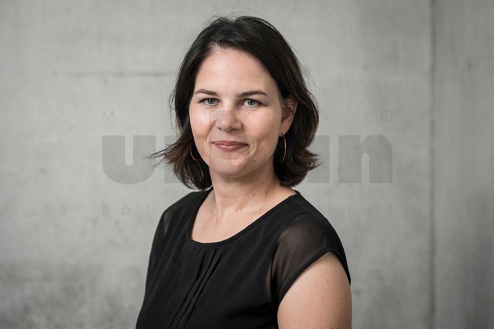 02 JUL 2019, BERLIN/GERMANY:<br /> Annalena Baerbock, MdB, B90/Gruene, Parteivorsitzende, Jakob-Kaiser-Haus, Deutscher Bundestag<br /> IMAGE: 20190702-01-060