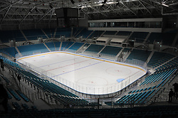 PYEONGCHANG, Oct. 30, 2017  Photo taken on Oct. 30, 2017 shows interior of the Gangneung Indoor Ice Rink for the PyeongChang Winter Olympic Games 2018, in Pyeongchang, South Korea. (Credit Image: © Geng Xuepeng/Xinhua via ZUMA Wire)