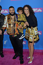 August 20, 2018 - New York, New York, United States - Nicole Tuck, DJ Khaled and Asahd Tuck Khaled arriving at the 2018 MTV Video Music Awards at Radio City Music Hall on August 20, 2018 in New York City  (Credit Image: © Kristin Callahan/Ace Pictures via ZUMA Press)