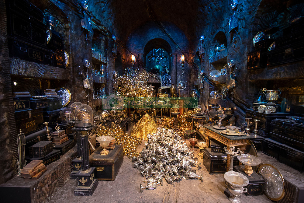 The Lestrange Vault set at the opening of the new Gringotts Wizarding Bank expansion at the Making Of Harry Potter attraction at the Warner Bros Studio Tour, in Watford.