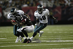 2 November 2003: The Philadelphia Eagles defeated  the Atlanta Falcons 23-16 at the Georgia Dome in Atlanta, GA...Mandatory Credit: Drew Hallowell