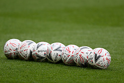 General view of matchballs at the FA Cup fourth round match at Riverside Stadium, Middlesbrough.