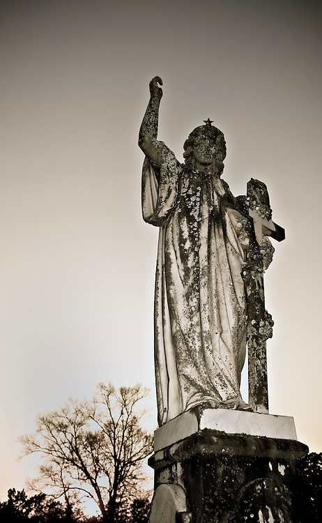 USA, Vereinigte Staaten von Amerika, Skulptur eines Engels Friedhof |United States of America,angel cimetery at a graveyard at the city of Thomasville, Georgia