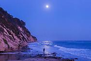 Full Moon at Hendry's Beach in Santa Barbara.