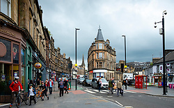 View of Barnton Street in central Stirling, Scotland, UK