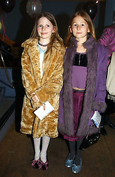 Left to right, ARIANE DE SELLIERS and POPPY WORCESTER at a performance by the London Childrens Ballet of 'The Little Princess' at The Peacock Theatre, Portugal Street, London WC2 on 19th May 2005.<br /><br />NON EXCLUSIVE - WORLD RIGHTS