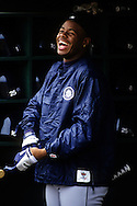 UNDATED:  Ken Griffey Jr. of the Seattle Mariners  smiles prior to a game.  Griffey played for the Mariners 1989-1999 and from 2009 to present. (Photo by Ron Vesely)