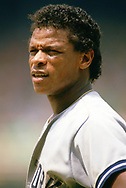 CHICAGO - 1988:  Rickey Henderson of the New York Yankees looks on during an MLB game versus the Chicago White Sox at Comiskey Park in Chicago, Illinois during the 1988 season. (Photo by Ron Vesely).  Subject:   Rickey Henderson