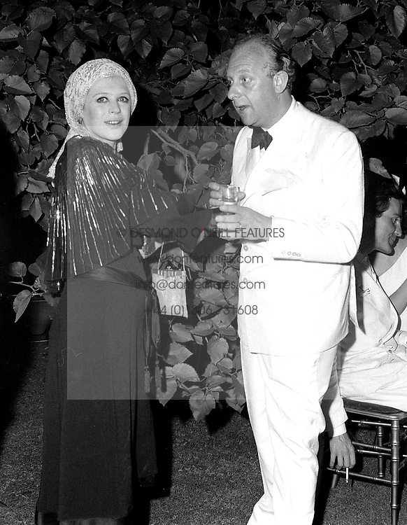 PRINCE RUPERT VON LOWENSTEIN and MARIANNE FAITHFUL at a party he hosted in London on 3rd July 1969.
