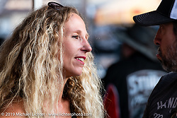 Heather Callen was a regular at the Iron Horse Saloon working the Cycle Source shows and Grease and Gears during the Sturgis Black Hills Motorcycle Rally. Sturgis, SD, USA. Monday, August 5, 2019. Photography ©2019 Michael Lichter.