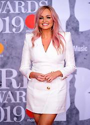 Emma Bunton attending the Brit Awards 2019 at the O2 Arena, London.