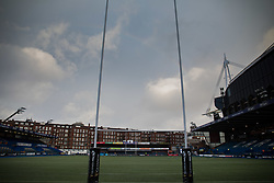 A general view of Cardiff Arms Park, home of Cardiff Blues<br /> <br /> Photographer Simon King/Replay Images<br /> <br /> Guinness PRO14 Round 14 - Cardiff Blues v Connacht - Saturday 26th January 2019 - Cardiff Arms Park - Cardiff<br /> <br /> World Copyright © Replay Images . All rights reserved. info@replayimages.co.uk - http://replayimages.co.uk