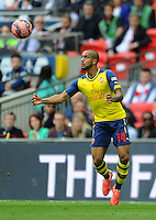 Arsenal's Theo Walcott in action during todays match  <br /> <br /> Photographer Ashley Crowden/CameraSport<br /> <br /> Football - The FA Cup Final - Aston Villa v Arsenal - Saturday 30th May 2015 - Wembley - London<br /> <br /> © CameraSport - 43 Linden Ave. Countesthorpe. Leicester. England. LE8 5PG - Tel: +44 (0) 116 277 4147 - admin@camerasport.com - www.camerasport.com