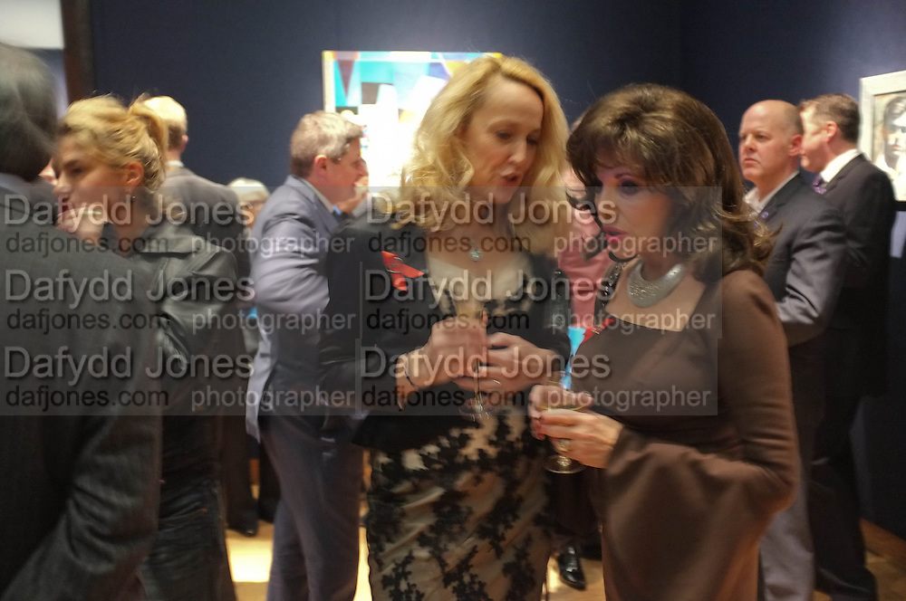 JERRY HALL; JOAN COLLINS, The Lighthouse Gala auction in aid of the Terrence Higgins Trust. Christies. London. 19 March 2012.