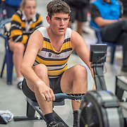 Nick O'Neill MALE HEAVYWEIGHT U17 1K Race #13  12:15pm<br /> <br /> www.rowingcelebration.com Competing on Concept 2 ergometers at the 2018 NZ Indoor Rowing Championships. Avanti Drome, Cambridge,  Saturday 24 November 2018 © Copyright photo Steve McArthur / @RowingCelebration