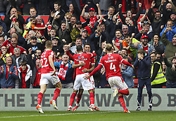 Nottingham Forest's Lewis Grabban celebrates scoring his side's second goal during the Sky Bet Championship match at the City Ground, Nottingham. Picture date: Saturday October 16, 2021.