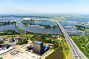 Nederland, Noord-Holland, Amsterdam,  29-06-2018; Watergraafsmeer, Science park met de hoogbouw van AM4 het nieuwste Equinix Data Centre. Foot richting Zeeburgereiland.<br /> Science park with the high-rise of AM4 the latest Equinix Data Center.<br /> <br /> luchtfoto (toeslag op standard tarieven);<br /> aerial photo (additional fee required);<br /> copyright foto/photo Siebe Swart