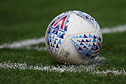 The EFL match ball during the EFL Sky Bet Championship match between Derby County and Cardiff City at the Pride Park, Derby, England on 13 September 2019.