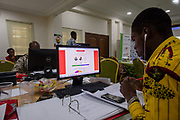 Monitoring the Ghana's Presidential and Parliamentary elections at the Institute of Democratic Gorvenance [IDEG] Office. Ayawaso-Ghana. December 8, 2016. Photo: Francis Kokoroko