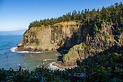 Coastal headlands seen from Cape Meares State Scenic Viewpoint, Oregon, USA.