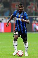 """Sulley MUNTARI Inter<br /> Milano 29/8/2009 Stadio """"Giuseppe Meazza""""<br /> Campionato Italiano Serie A 2009/2010<br /> Milan Inter 0-4<br /> Foto Insidefoto"""