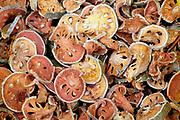 Dried oranges for sale at Luang Prabang morning market, Laos