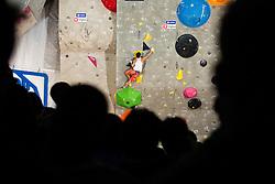 Sean McColl (CAN) during men final competition of IFSC Climbing World Cup Kranj 2014, on November 16, 2014 in Arena Zlato Polje, Kranj, Slovenia. (Photo By Grega Valancicr / Sportida.com)