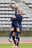 FOOTBALL - FRENCH WOMEN CHAMPIONSHIP 2012/2013 - D1 - PARIS SAINT GERMAIN VS ARRAS - 14/10/2012 - KOSOVARE ASSLLANI (PARIS SAINT-GERMAIN), KHEIRA HAMRAOUI (PARIS SAINT-GERMAIN)