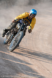 Billy Lane racing in his Sons of Speed vintage race series at the Full Throttle Saloon during the 78th annual Sturgis Motorcycle Rally. Sturgis, SD. USA. Thursday August 9, 2018. Photography ©2018 Michael Lichter.