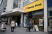 Money shop in central Birmingham, United Kingdom. The Money Shop offers a range of services including foreign exchange, short term loans and pawnbroking.