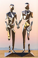 BROKEN BUT TOGETHER by Michael Benisty MIRROR POLISHED STAINLESS STEEL 21 X 12 X 10 FT 6.5 X 3.6 X 3 M 2019 https://www.michaelbenisty.com