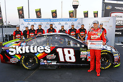September 15, 2017 - Joliet, Illinois, United States of America - September 15, 2017 - Joliet, Illinois, USA: Kyle Busch (18) wins the pole for the Tales of the Turtles 400 at Chicagoland Speedway in Joliet, Illinois. (Credit Image: © Chris Owens Asp Inc/ASP via ZUMA Wire)