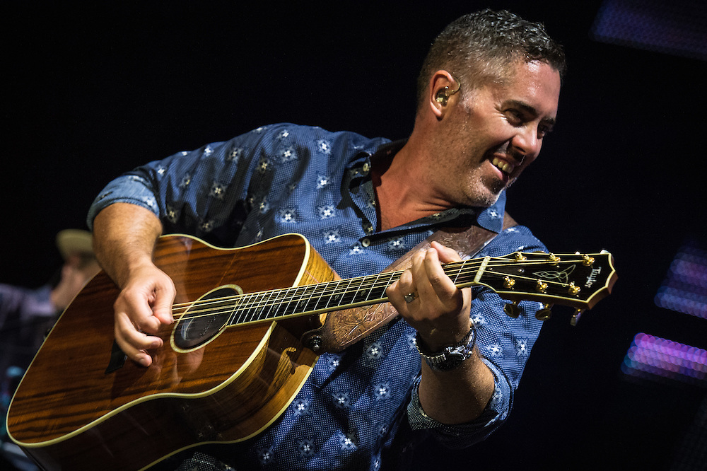 Ed Robertson with the Barenaked Ladies performing