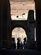 Tourists at The Colosseum, Rome, Italy