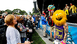 Pictured: Scottish sensations Colonel Mustard and the Dijon 5 get the party swinging in front of a sell out 9000 crowd at Party at the Palace in Linlithgow close to historic Linlithgow Palace . Andrew West/ EEm